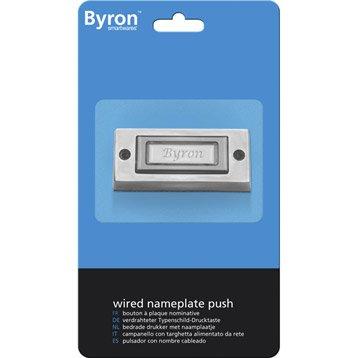 Bouton de sonnette filaire BYRON 3333bs