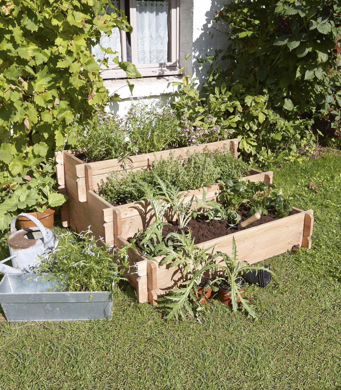 cultiver son propre potager en hauteur leroy merlin. Black Bedroom Furniture Sets. Home Design Ideas