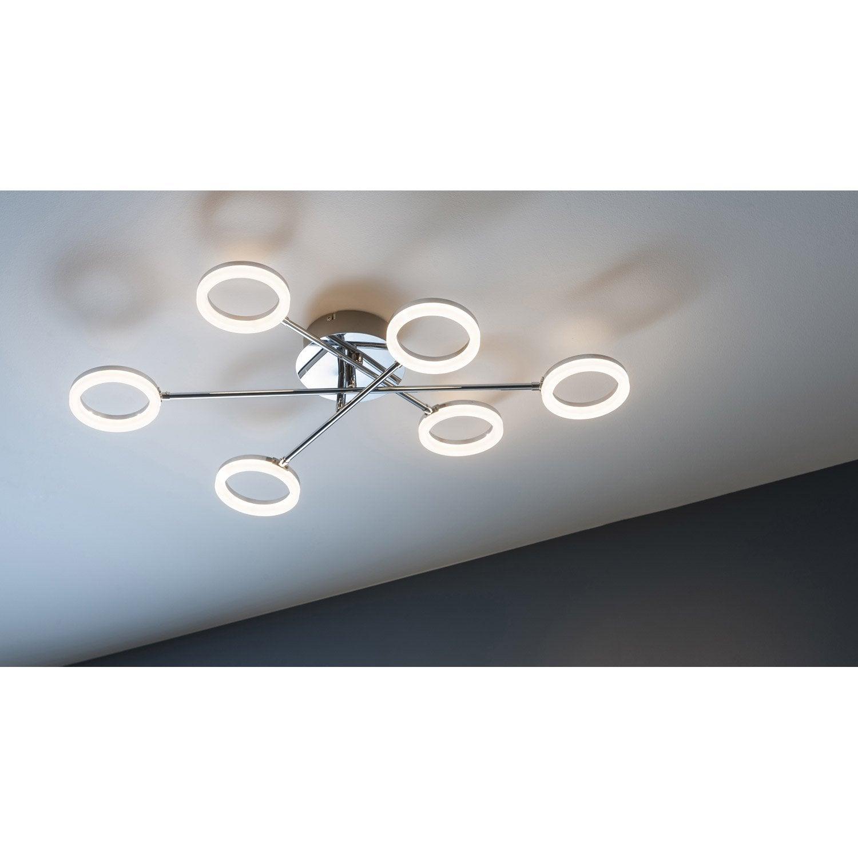 Plafonnier plafonnier LED intégrée 380X6 Lm chrome poli Iring INSPIRE