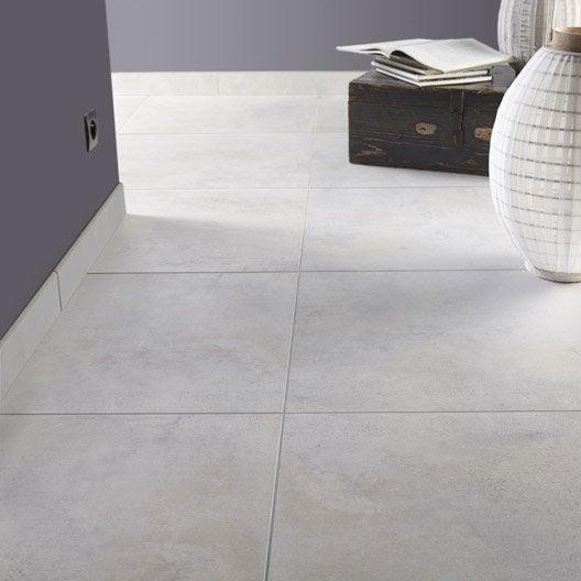 carrelage sol et mur blanc mineral effet b ton live x cm leroy merlin. Black Bedroom Furniture Sets. Home Design Ideas