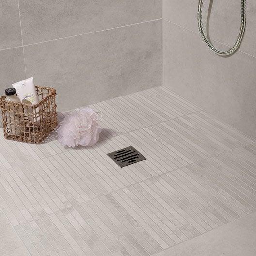 Carrelage sol et mur blanc mineral effet b ton live x for Beton mineral sur carrelage