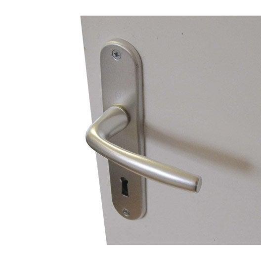 2 poign es de porte roissy trou de cl inspire aluminium - Poignee de porte aluminium ...
