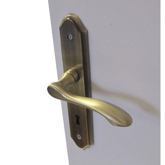 Poign e de porte int rieure poign e chambre wc salle de bain bureau leroy merlin - Poignee de porte bricorama ...