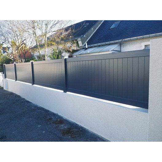 Cl ture aluminium pontivy naterial blanc x cm - Barriere de jardin leroy merlin ...