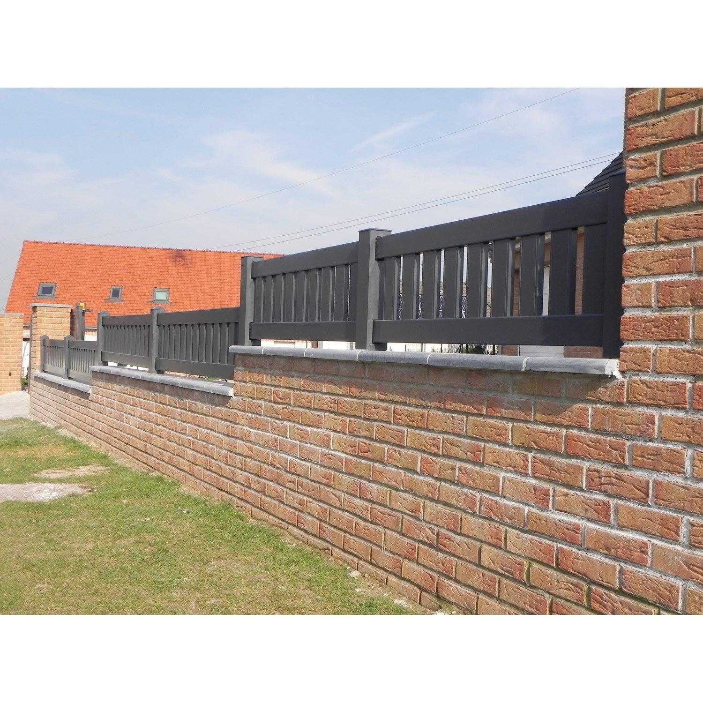 panneau aluminium cloture stunning cool clture pvc panneau et portail alu with cloture panneau. Black Bedroom Furniture Sets. Home Design Ideas