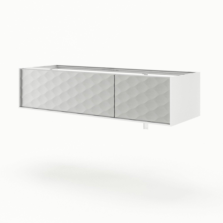 Meuble de salle de bains l.135 x H.32 x P.48 cm, blanc, Neo frame ...
