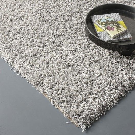 tapis gris shaggy cubic x cm leroy merlin. Black Bedroom Furniture Sets. Home Design Ideas