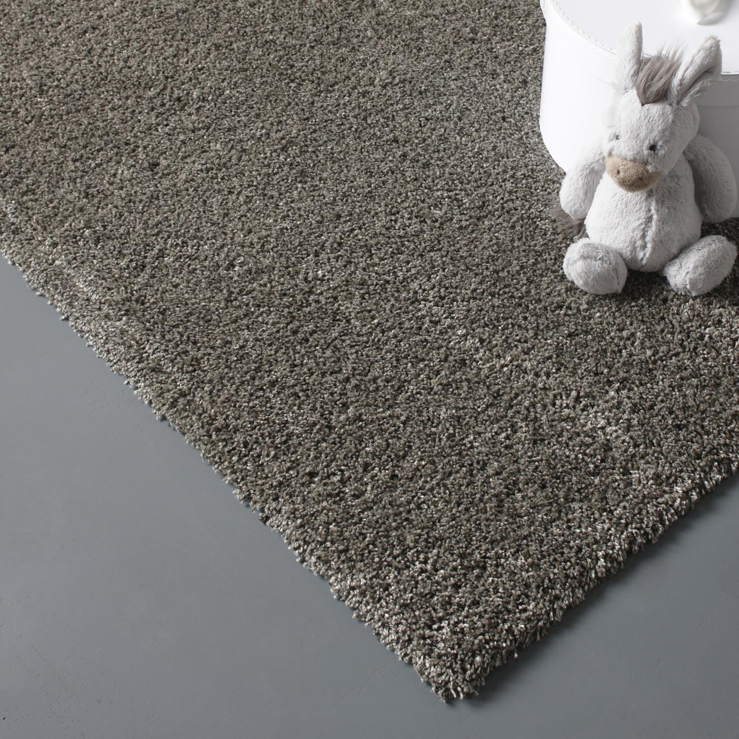 tapis taupe shaggy lizzy l60 x l115 cm - Tapis Taupe