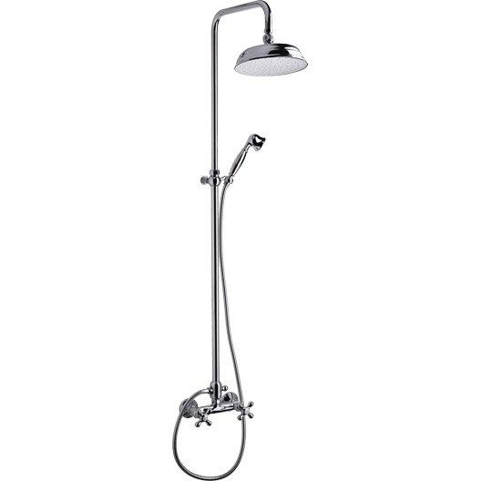 colonne de douche avec robinetterie sarodis sterling leroy merlin. Black Bedroom Furniture Sets. Home Design Ideas