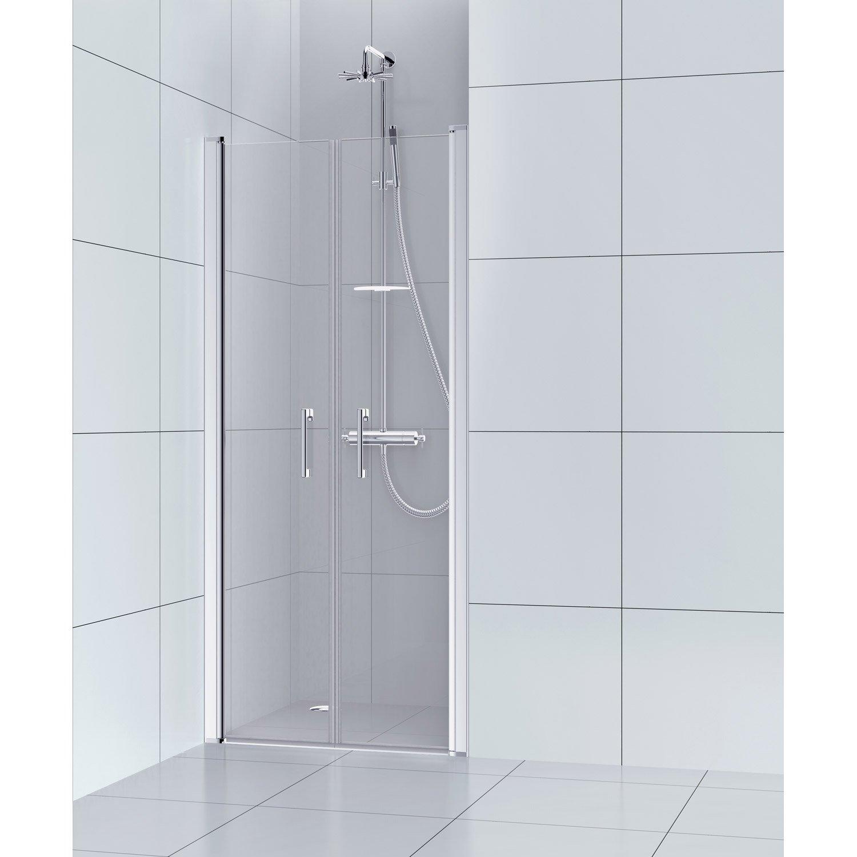 Porte Western Pour Salle De Bain ~ porte de douche battante 90 cm transparent remix leroy merlin