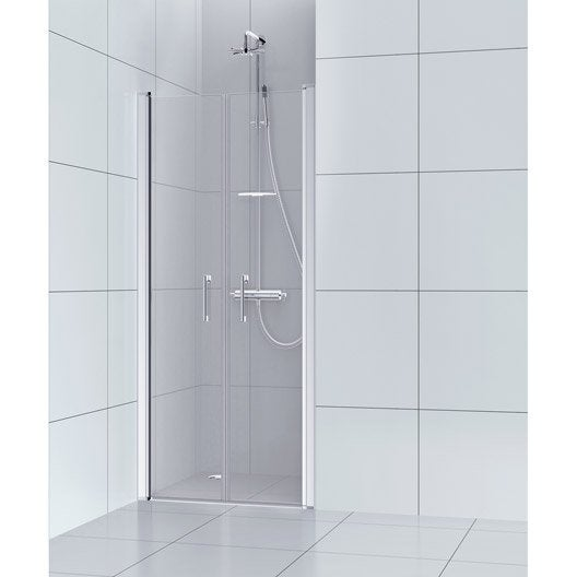 Porte De Douche Battante 90 Cm, Transparent, Remix ...