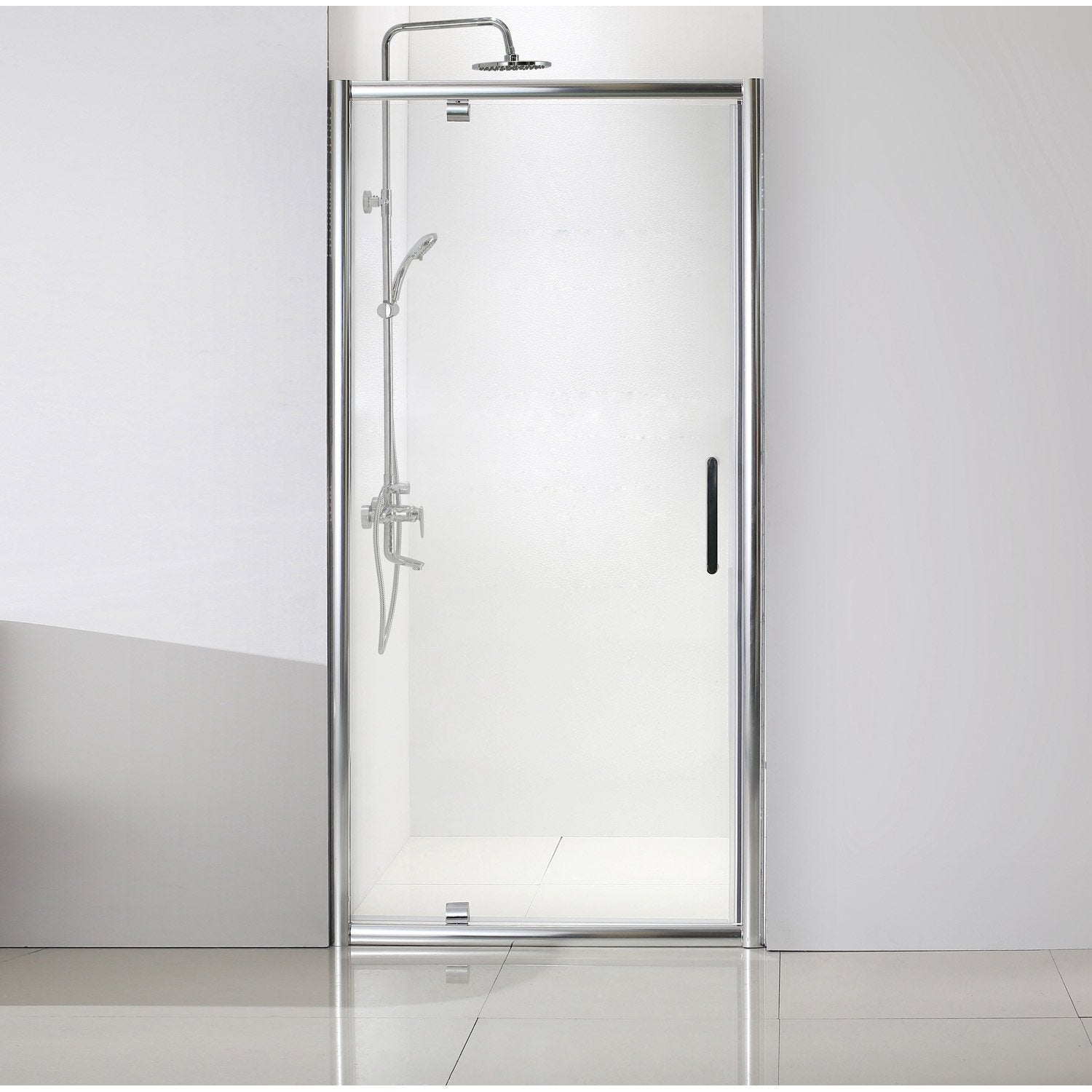 porte de douche pivotante 90 cm transparent quad leroy merlin. Black Bedroom Furniture Sets. Home Design Ideas
