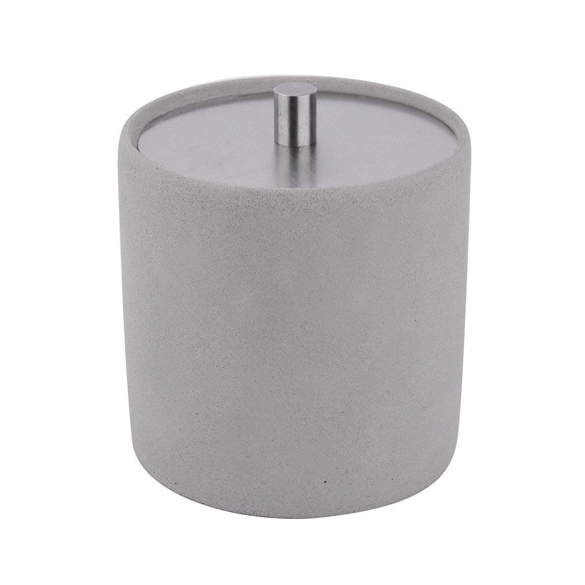 Boîte à coton ciment M apollon light, gris clair