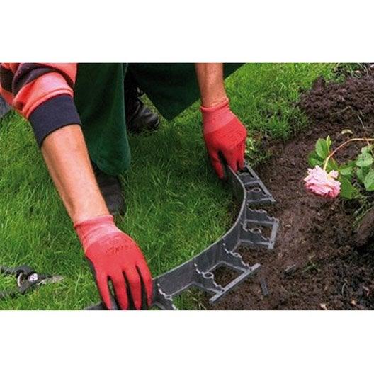 Bordure de jardin bois b ton plastique pierre acier - Bordure de jardin flexible ...