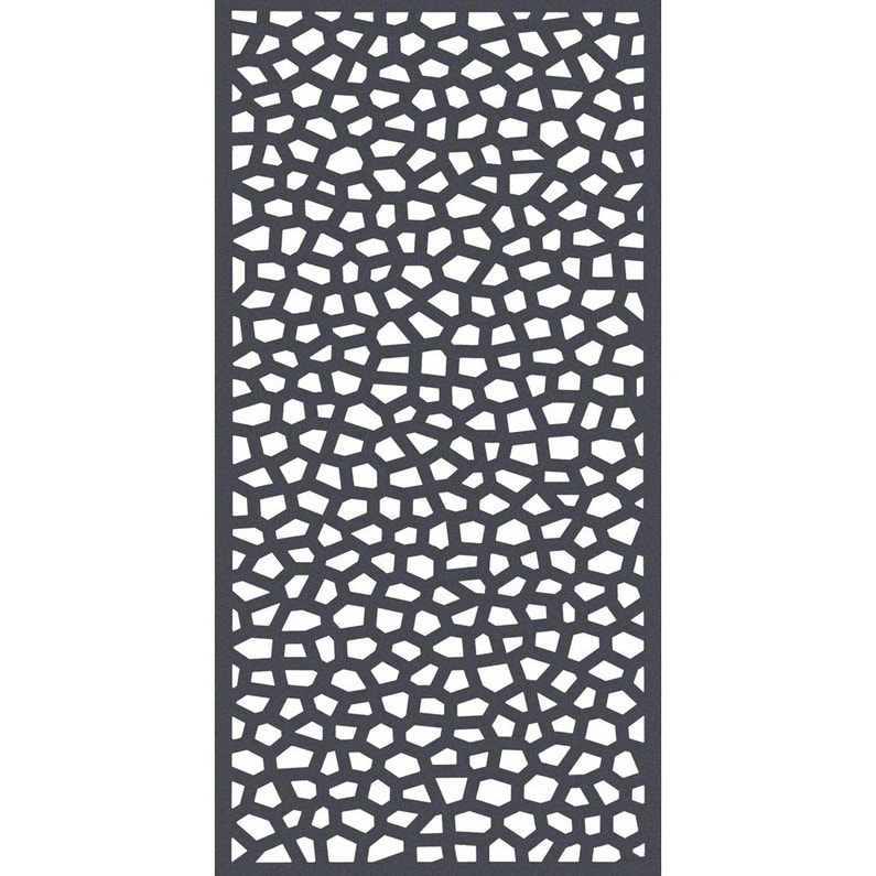 Panneau treillis pvc ajouré Mosaïc, l.100 x H.200 cm, gris | Leroy ...