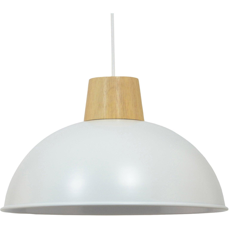 Suspension métal blanc BOUDET Mamuto 1 lumière(s)
