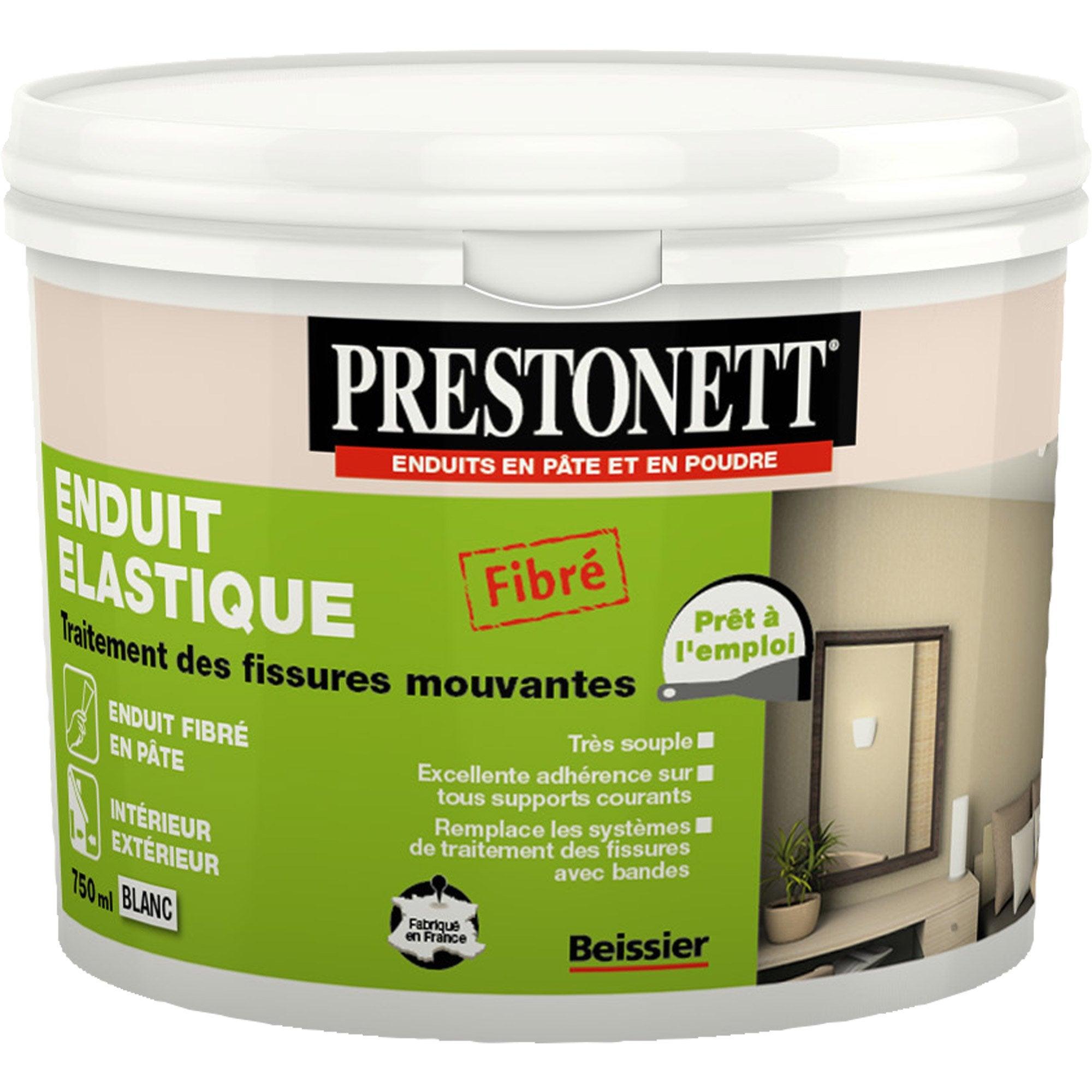 Enduit Souple Pour Bois enduit de rebouchage prestonett elastique 750 ml en pâte, intérieur /  extérieur