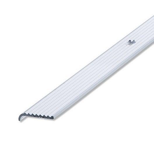 nez de marche aluminium anodis l 2 m x l 2 5 cm x h 0 6 cm leroy merlin. Black Bedroom Furniture Sets. Home Design Ideas