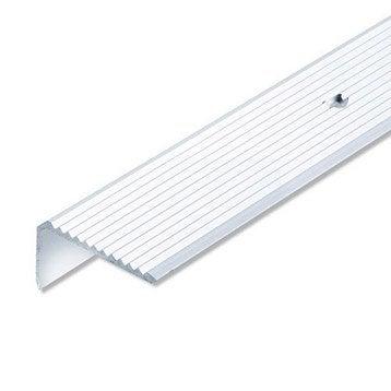 Nez de marche aluminium anodisé, L.1 m x l.4.1 cm x H.2.3 cm