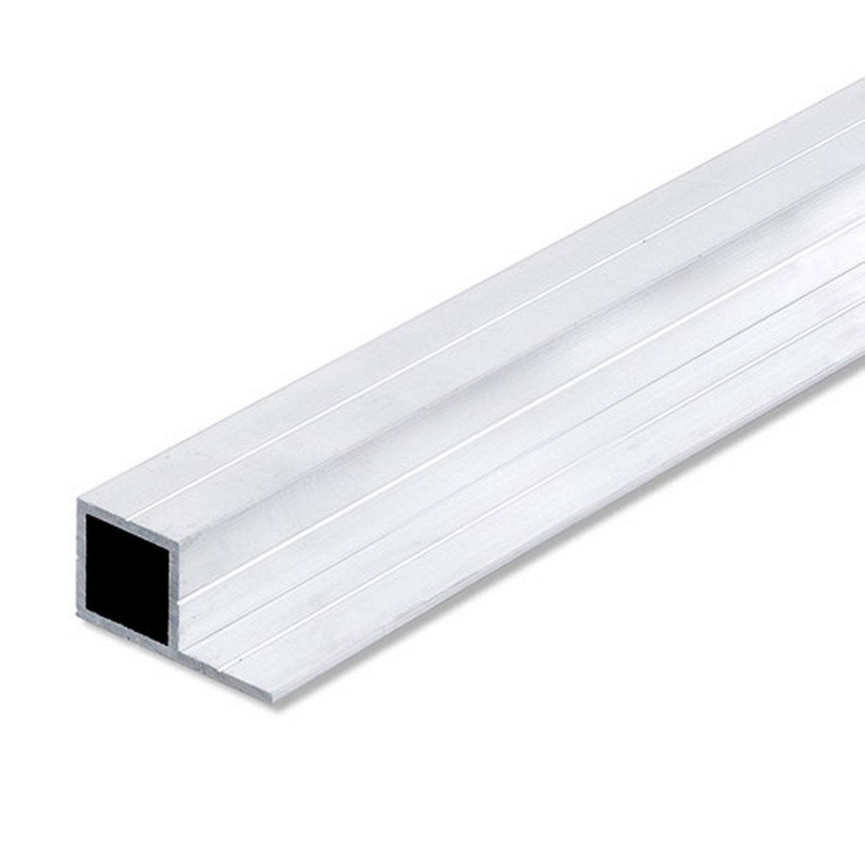 Tube carr aluminium brut l 2 5 m x l cm x h cm for Aspect de l aluminium