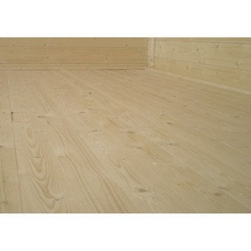 Plancher en bois Stockholm, l.358 x H.16 x P.358 cm