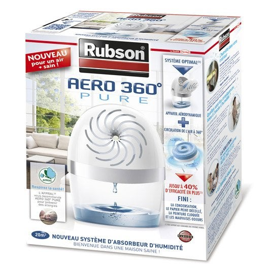 absorbeur d 39 humidit une recharge a ro 360 rubson 20 m. Black Bedroom Furniture Sets. Home Design Ideas