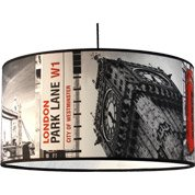 Suspension Pop Londres Big Ben tissus multicolore 1 x 60 W METROPOLIGHT