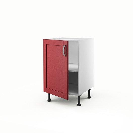 meuble de cuisine bas rouge 1 porte rubis x x p. Black Bedroom Furniture Sets. Home Design Ideas