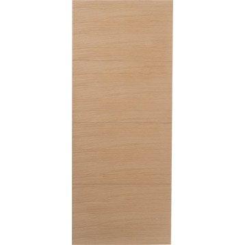 Porte coulissante chêne plaqué marron Madrid, 204 x 83 cm