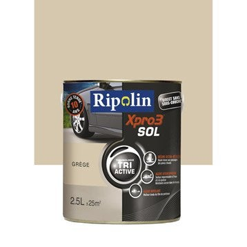 Peinture sol extérieur / intérieur Xpro 3 RIPOLIN, gris grège, 2.5 l