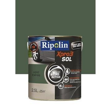 Peinture sol extérieur / intérieur Xpro 3 RIPOLIN, vert empire, 2.5 l