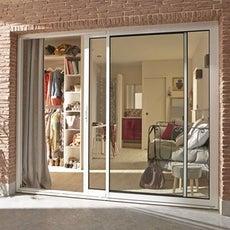 Baie vitr e baie coulissante baie vitr e sur mesure for Porte exterieure vitree