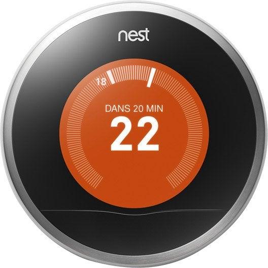 Thermostat connect et intelligent filaire nest learning thermostat 2 leroy merlin - Thermostat connecte nest ...