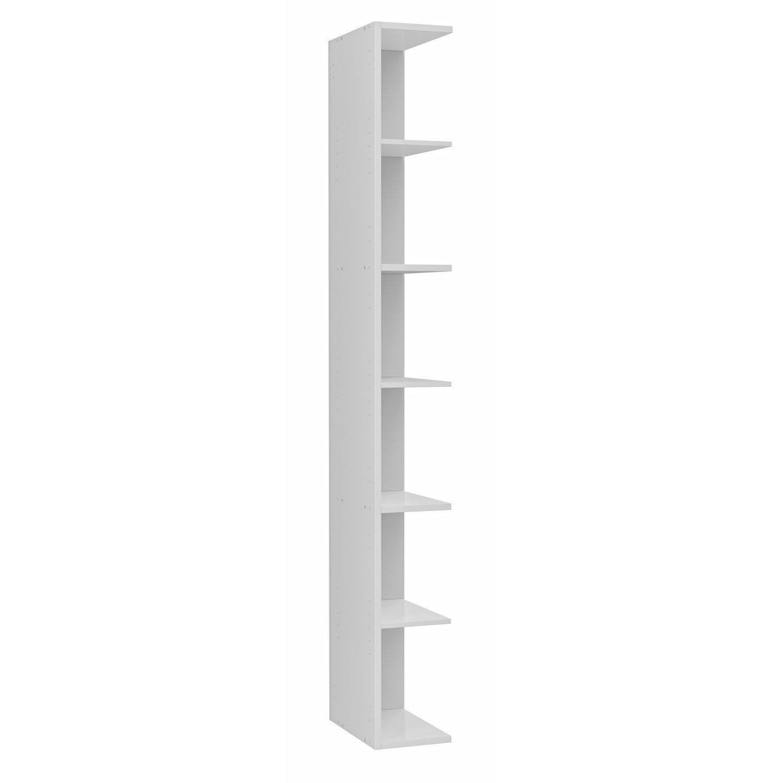 Extension Pour Colonne De Rangement L20 X H1729 P33cm Blanc Remix