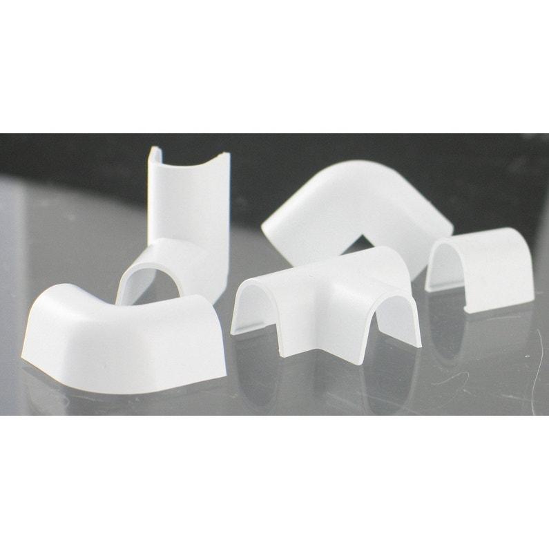 Lot De 10 Accessoires Pour Cache Fil Blanc Pour Moulure H11 X P9 Cm
