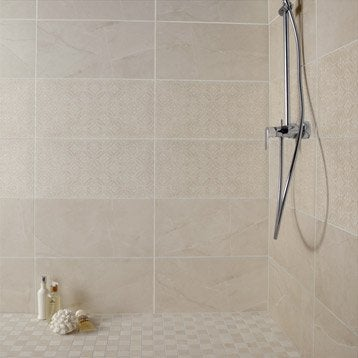 finest faence mur beige colyse l x l cm with carrelage bleu canard. Black Bedroom Furniture Sets. Home Design Ideas