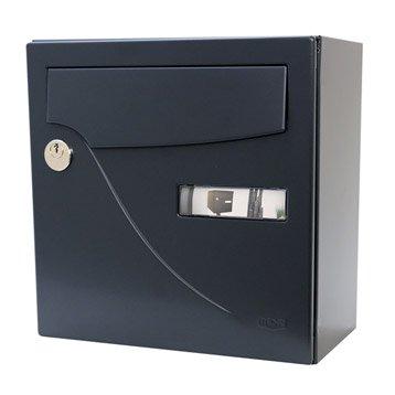 Boîte aux lettres compacte 1 porte RENZ Essentiel, acier gris