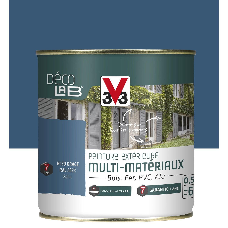 peinture multimat233riau ext233rieur v33 bleu orage 05 l