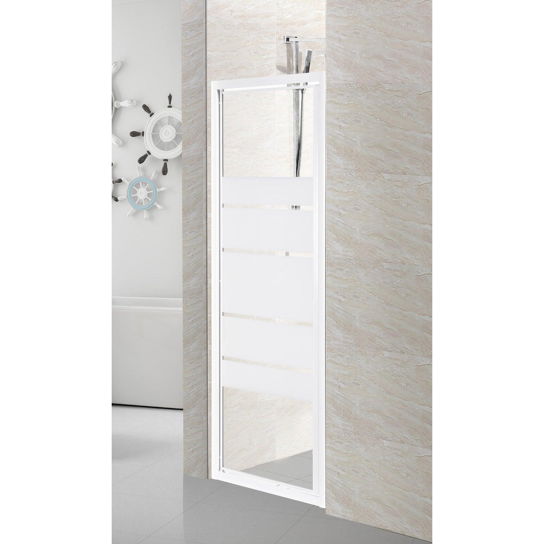 Porte de douche pivotante 79 cm s rigraphi nerea leroy merlin - Pose porte de douche ...