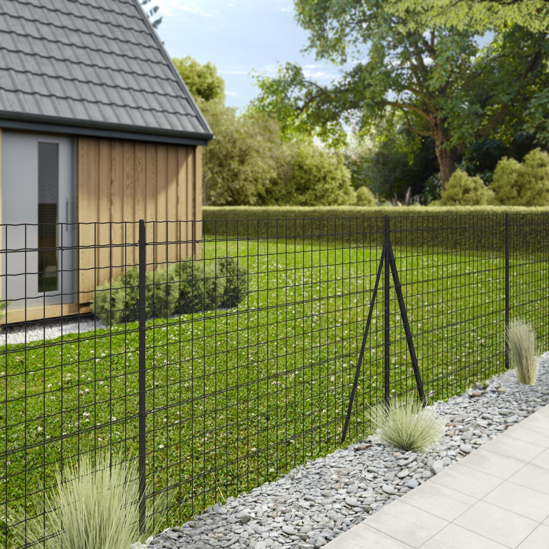 Grillage Jardin Hauteur 2M grillage rouleau soudé palma nature gris, h.1.5 x l.20m, maille h.100 x  l.76.2mm