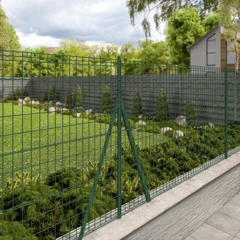 Grillage Jardin Hauteur 2M grillage rouleau soudé luxor nature vert, h.1.2 x l.20m, maille h.100 x  l.50.8mm