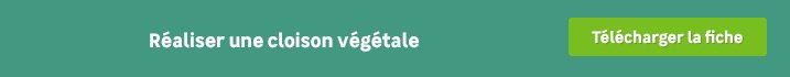 DIY - cloison vegetale