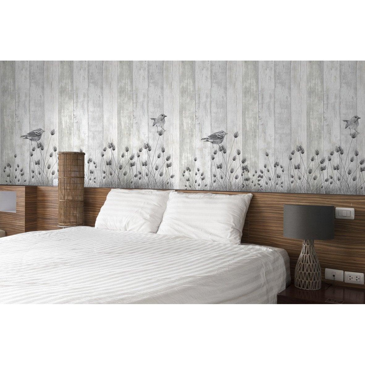 Lambris PVC Décor mural blanc L.260 x l.37.5 - 2.925m²