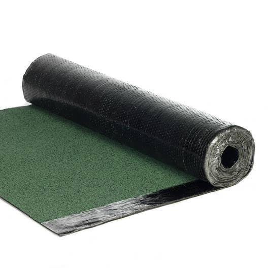 Bardeau en rouleau vert l 1 x l 7 5 m asphaltco leroy merlin - Pose bardeau bitume en rouleau ...