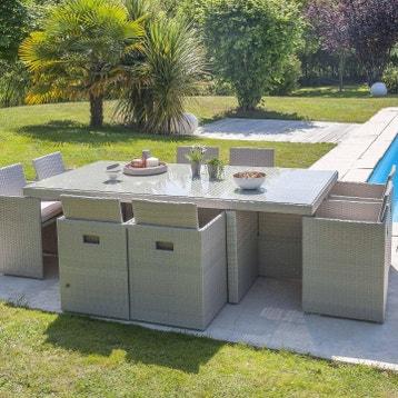 Salon De Jardin En Resine Gris au meilleur prix | Leroy Merlin