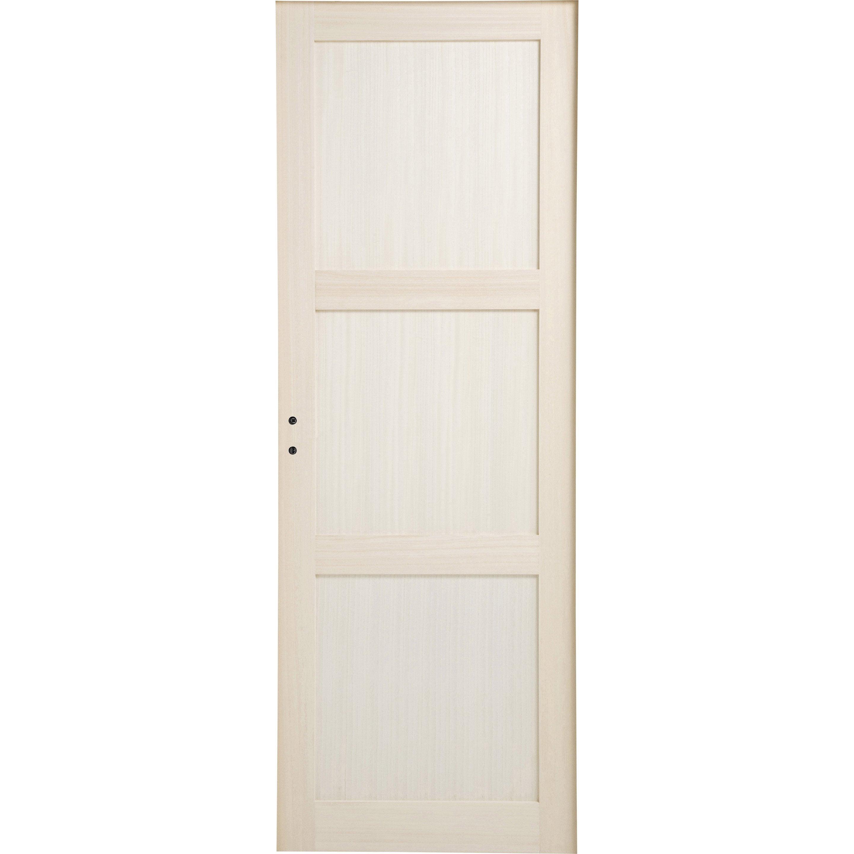 Bloc-porte bois plaqué Bowen H.204 x l.73 cm, poussant droit