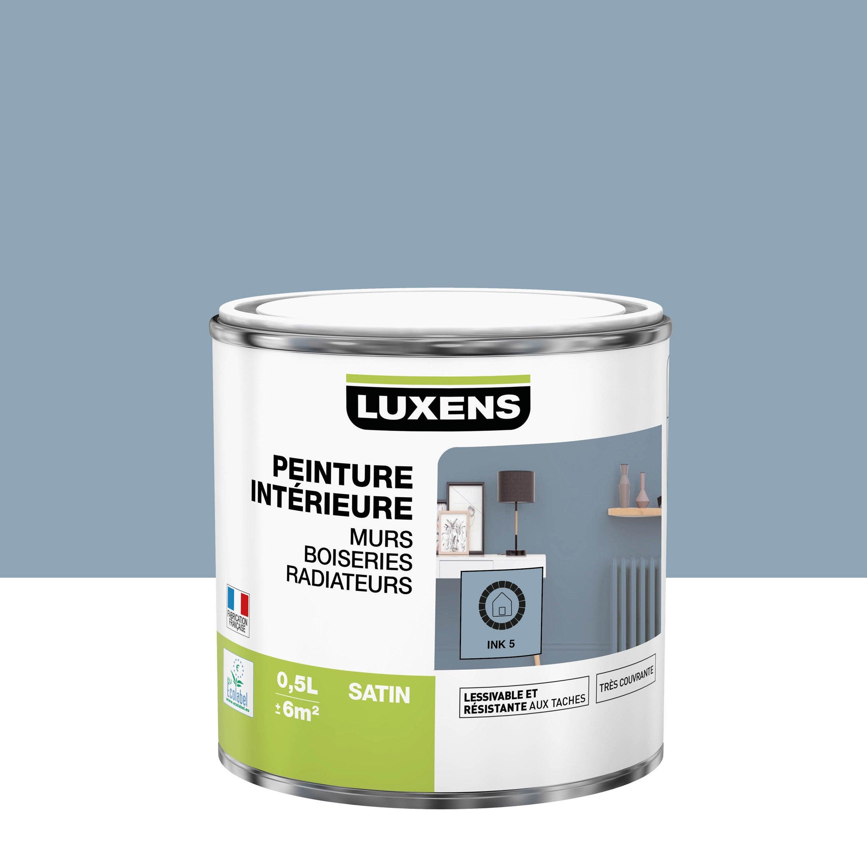 Peinture mur, boiserie, radiateur Multisupports LUXENS ink 5 satiné 0.5 l