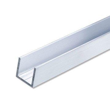 U carré aluminium brut, L.2.5 m x l.2.35 cm x H.2.35 cm