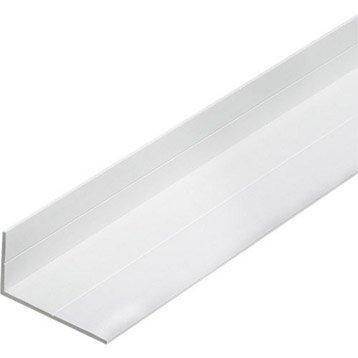 Cornière inégale pvc mat, L.2.5 m x l.4.35 cm x H.4.35 cm