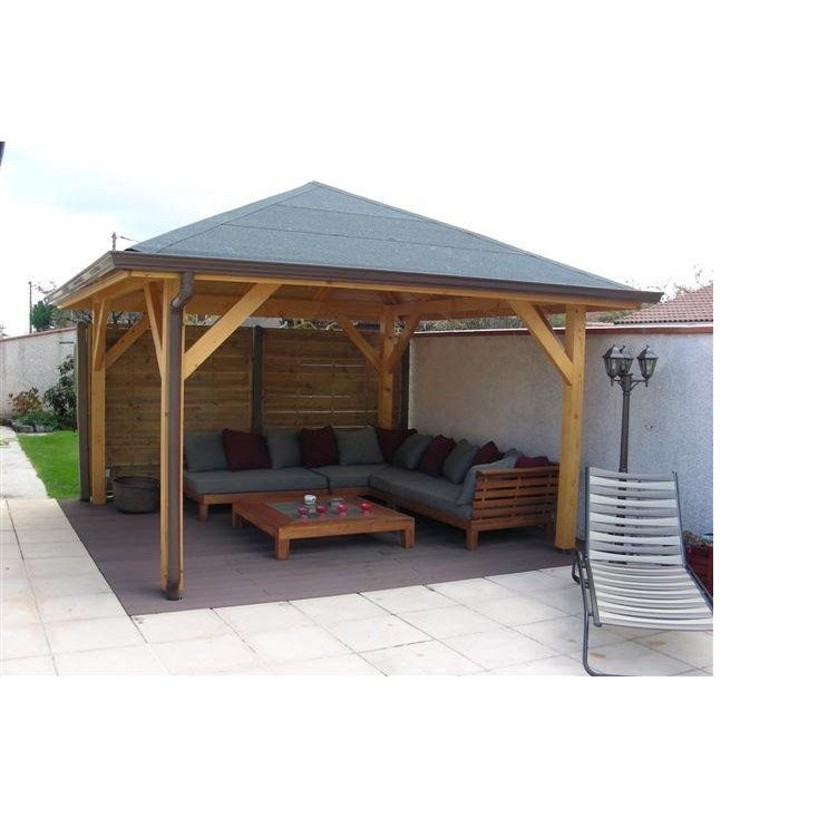 Kiosque bois Villaverde, bois marron, 16 m² | Leroy Merlin